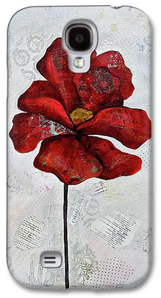 Winter Poppy I Galaxy S4 Case by Shadia Derbyshire