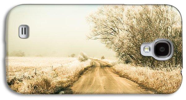 Winter Road Wonderland Galaxy S4 Case