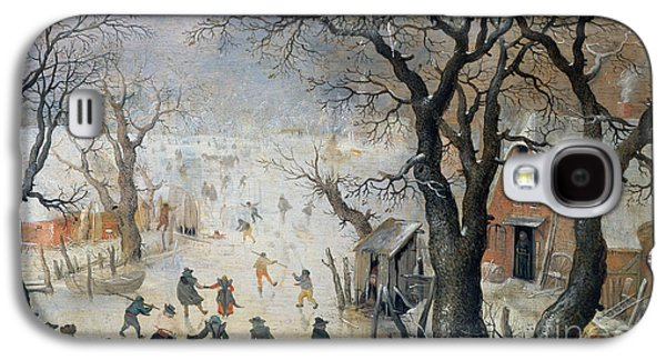 Winter Scene Galaxy S4 Case by Hendrik Avercamp