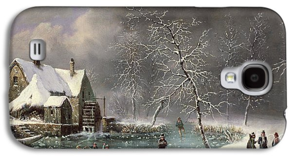 Winter Scene Galaxy S4 Case by Louis Claude Mallebranche
