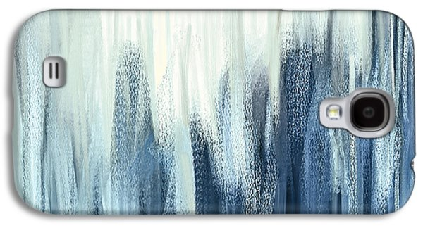 Winter Sorrows - Blue And White Abstract Galaxy S4 Case