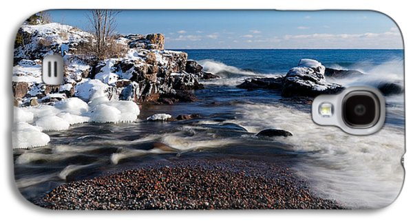Beach Photographs Galaxy S4 Cases - Winter Splash Galaxy S4 Case by Sebastian Musial