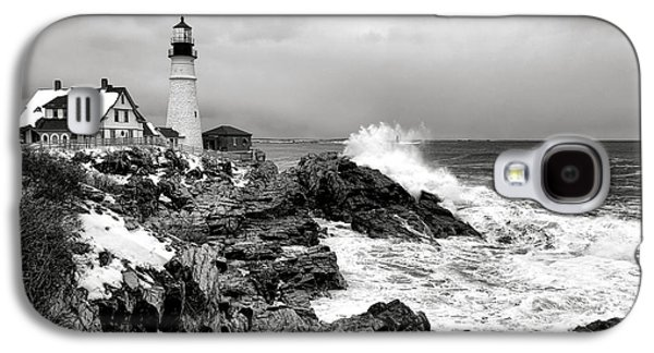 Winter Storm At Portland Head Galaxy S4 Case by Olivier Le Queinec