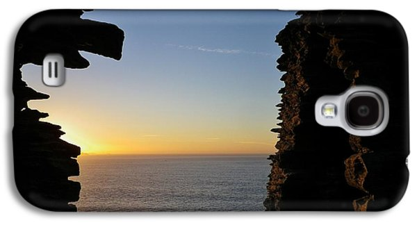 Winter Sunset At Tintagel Castle Cornwall Galaxy S4 Case