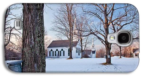 Winter Sunset In New Salem Galaxy S4 Case by Susan Cole Kelly