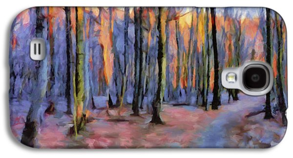 Winter Sunset In The Beech Wood Galaxy S4 Case