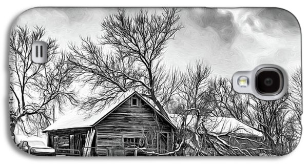 Winter Thoughts 2 - Bw Galaxy S4 Case