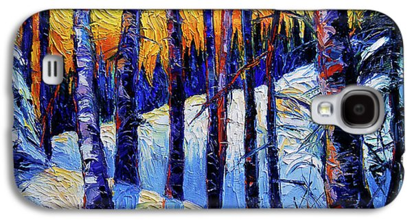 Winter Woodland Sunset Galaxy S4 Case by Mona Edulesco