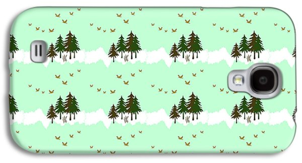 Winter Woodlands Bird Pattern Galaxy S4 Case by Christina Rollo