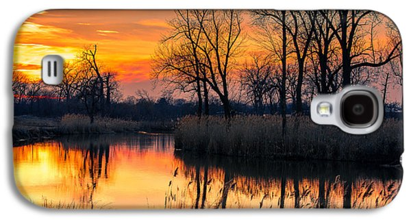 Winter's Last Sunset Galaxy S4 Case