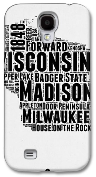 Wisconsin Word Cloud Map 2 Galaxy S4 Case by Naxart Studio