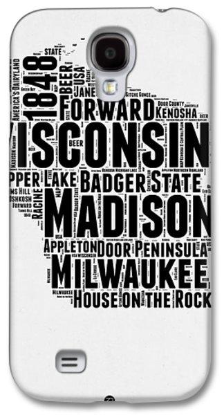 Wisconsin Word Cloud Map 2 Galaxy S4 Case