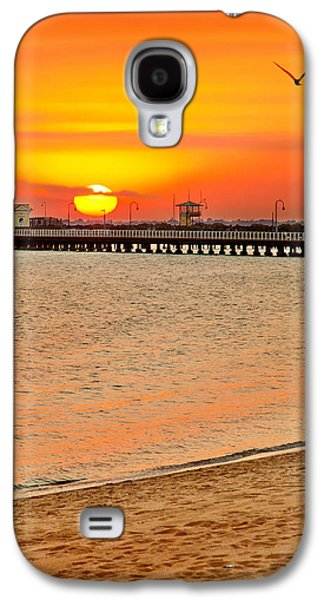 Beach Sunset Galaxy S4 Case - Wish You Were Here by Az Jackson