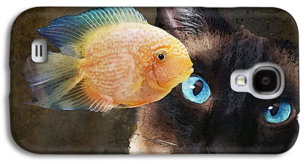 Wishful Thinking 2 - Siamese Cat Art - Sharon Cummings Galaxy S4 Case by Sharon Cummings