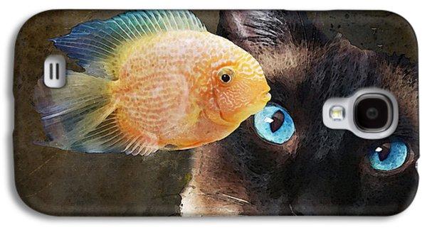 Wishful Thinking 2 - Siamese Cat Art - Sharon Cummings Galaxy S4 Case