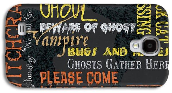 Bat Galaxy S4 Case - Witchcraft Typography by Debbie DeWitt