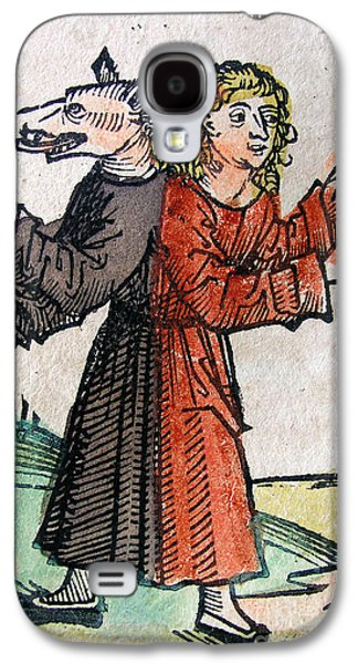 Wolf Boy, Nuremberg Chronicle, 1493 Galaxy S4 Case by Science Source