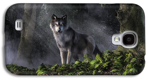 Wolf In The Forest Galaxy S4 Case by Daniel Eskridge