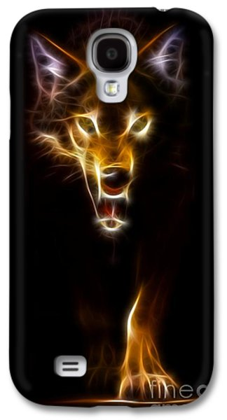 Wolf Ready To Attack Galaxy S4 Case by Pamela Johnson