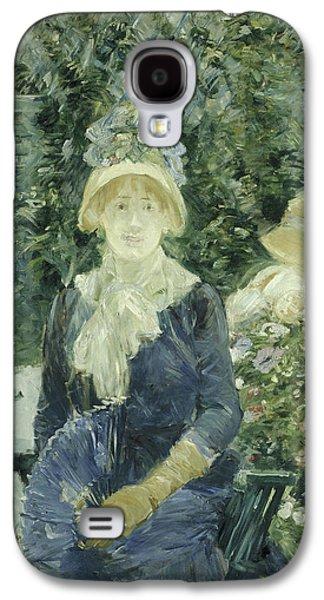 Woman In A Garden Galaxy S4 Case by Berthe Morisot