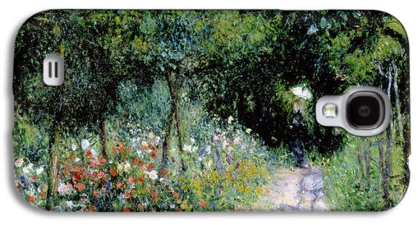 Woman In A Garden Galaxy S4 Case by Pierre Auguste Renoir