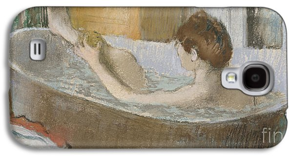 Woman In Her Bath Galaxy S4 Case by Edgar Degas