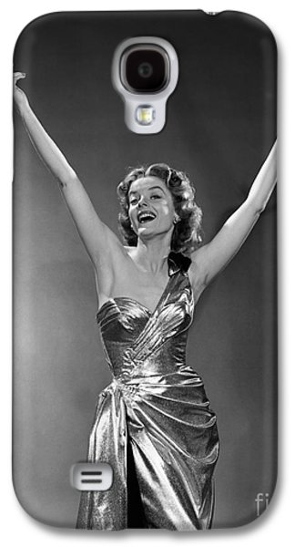 Woman In Metallic Dress, C.1950s Galaxy S4 Case