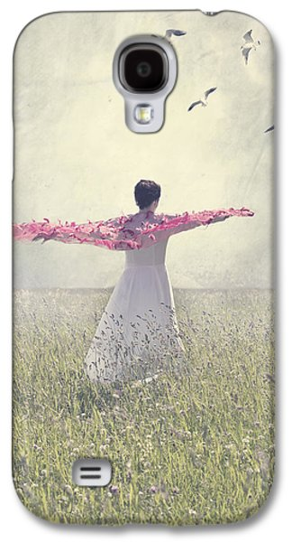 Person Galaxy S4 Cases - Woman On A Lawn Galaxy S4 Case by Joana Kruse