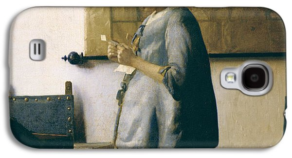 Woman Reading A Letter Galaxy S4 Case by Jan Vermeer