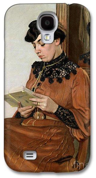 Woman Reading Galaxy S4 Case by Felix Edouard Vallotton