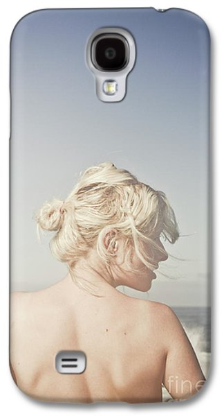 Woman Relaxing On The Beach Galaxy S4 Case by Jorgo Photography - Wall Art Gallery