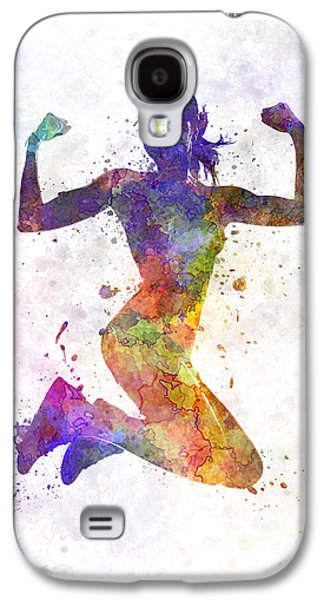 Woman Runner Jogger Jumping Powerful Galaxy S4 Case