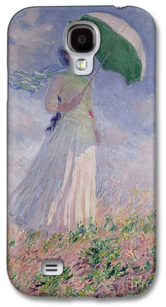 Woman With A Parasol Turned To The Right Galaxy S4 Case by Claude Monet