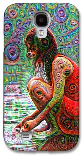 Woman With Dog Head Deep Dream Wild And Crazy Galaxy S4 Case by Matthias Hauser