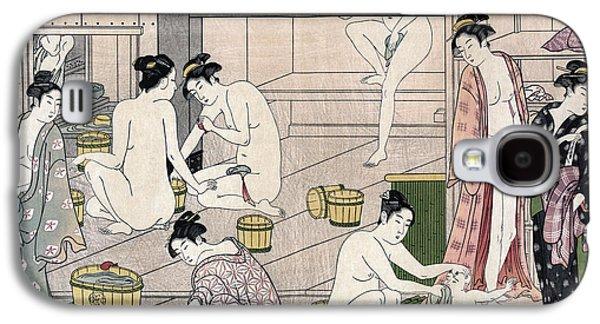 Women's Bathhouse Galaxy S4 Case by Torii Kiyonaga