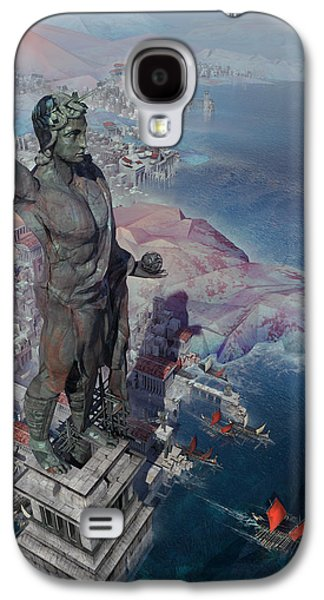 wonders the Colossus of Rhodes Galaxy S4 Case by Te Hu
