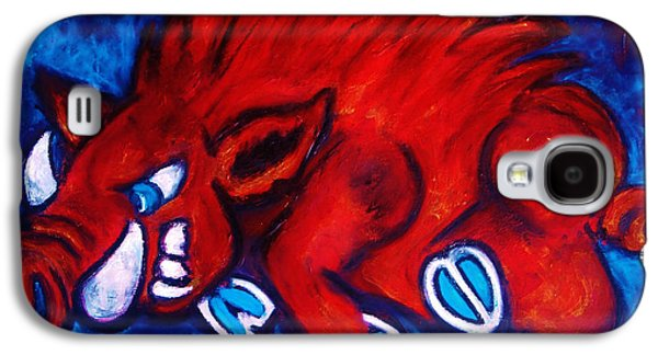 Woo Pig Galaxy S4 Case by Laura  Grisham