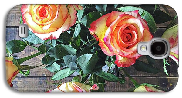 Daisy Galaxy S4 Case - Wood And Roses by Shadia Derbyshire
