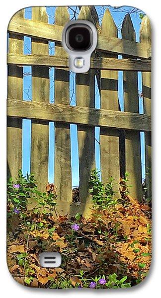Wood Fence Galaxy S4 Case by Susan Leggett