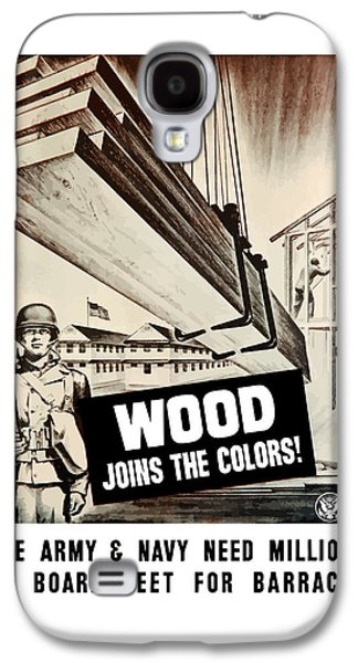 Wood Joins The Colors - Ww2 Galaxy S4 Case by War Is Hell Store