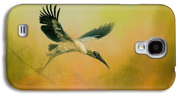 Wood Stork Encounter Galaxy S4 Case by Marvin Spates