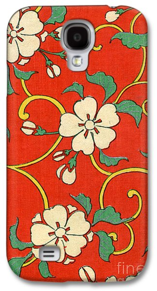 Woodblock Print Of Apple Blossoms Galaxy S4 Case by Japanese School
