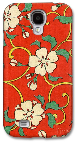 Woodblock Print Of Apple Blossoms Galaxy S4 Case