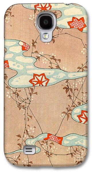 Woodblock Print Of Fall Leaves Galaxy S4 Case by Japanese School