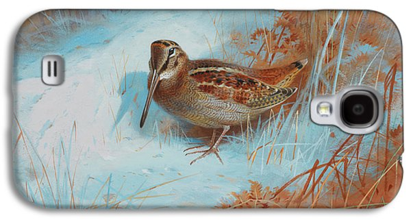 Woodcock Galaxy S4 Case - A Woodcock In The Snow by Archibald Thorburn
