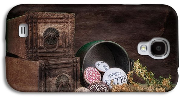 Wooden Drawers And Knobs Still Life Galaxy S4 Case by Tom Mc Nemar