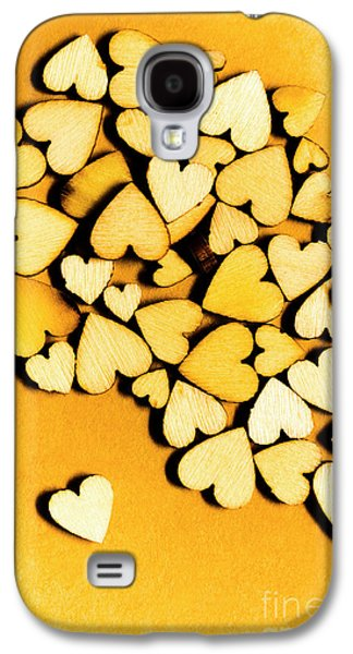 Wooden Hearts With Sentimental Single Galaxy S4 Case