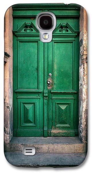 Wooden Ornamented Gate In Green Color Galaxy S4 Case by Jaroslaw Blaminsky