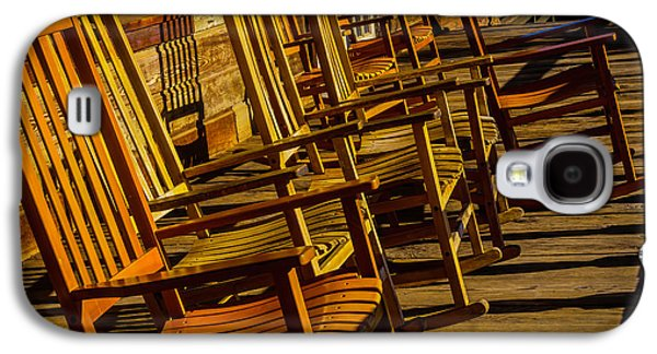 Wooden Rocking Chairs Galaxy S4 Case by Garry Gay