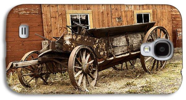 Wooden Wagon Galaxy S4 Case by Jeff Swan